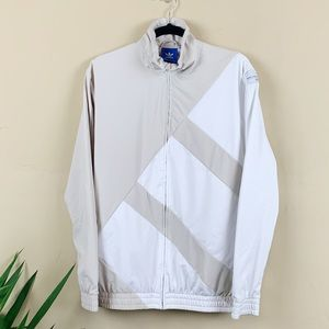 Adidas Full Zip Tan Mesh-Lined Jacket Size Small